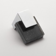 "Affinity Slate Gray 1.25"" Square Glass Cabinet Knob (K-1202) by Sietto"