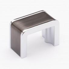 "Fusion Gunmetal/Polished Chrome 1-3/4"" Metal Cabinet Knob (K-2000-G) by Sietto"
