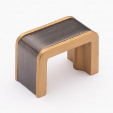 "Fusion Gunmetal/Satin Brass 1-3/4"" Metal Cabinet Knob (K-2000-G) by Sietto"