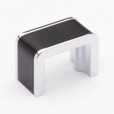 "Fusion Matte Black/Polished Chrome 1-3/4"" Metal Cabinet Knob (K-2000-MB) by Sietto"