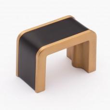 "Fusion Matte Black/Satin Brass 1-3/4"" Metal Cabinet Knob (K-2000-MB) by Sietto"
