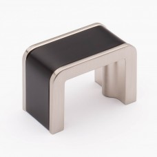 "Fusion Matte Black/Satin Nickel 1-3/4"" Metal Cabinet Knob (K-2000-MB) by Sietto"