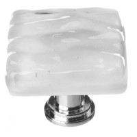 "Glacier Blue Grey 1-1/4"" Square Glass Cabinet Knob (K-204) by Sietto"