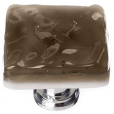 "Glacier Oregon Grey 1-1/4"" Square Glass Cabinet Knob (K-205) by Sietto"