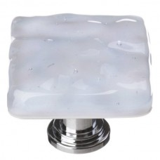 "Glacier Soft Blue 1-1/4"" Square Glass Cabinet Knob (K-224) by Sietto"