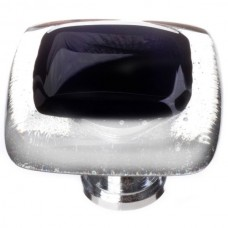 "Reflective Black 1-1/4"" Glass Cabinet Knob (K-700) by Sietto"