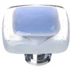 "Reflective Sky Blue 1-1/4"" Glass Cabinet Knob (K-704) by Sietto"