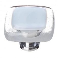 "Reflective Soft Blue 1-1/4"" Glass Cabinet Knob (K-706) by Sietto"