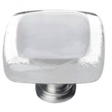 "Reflective Blue Grey 1-1/4"" Square Glass Cabinet Knob (K-710) by Sietto"