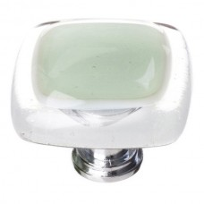 """Reflective Spruce Green 1-1/4"""" Glass Cabinet Knob (K-712) by Sietto"""