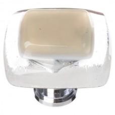 "Reflective Sesame 1-1/4"" Square Glass Cabinet Knob (K-714) by Sietto"