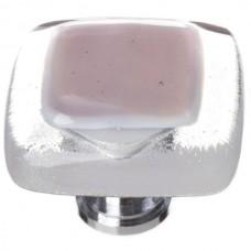 """Reflective Purple 1-1/4"""" Square Glass Cabinet Knob (K-718) by Sietto"""