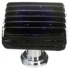 "Texture Black 1-1/4"" Glass Cabinet Knob (K-802) by Sietto"