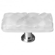 "Glacier Blue Grey 2"" Long Glass Cabinet Knob (LK-204) by Sietto"