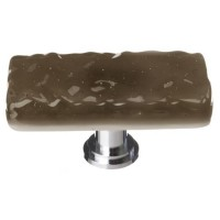 "Glacier Oregon Grey 2"" Long Glass Cabinet Knob (LK-205) by Sietto"