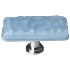"Glacier Powder Blue 2"" Long Glass Cabinet Knob (LK-215) by Sietto"