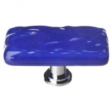 "Glacier Deep Cobalt Blue 2"" Long Glass Cabinet Knob (LK-221) by Sietto"