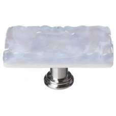 "Glacier Soft Blue 2"" Long Glass Cabinet Knob (LK-224) by Sietto"