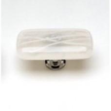 "Cirrus Vanilla & White 2"" Glass Cabinet Knob (LK-500) by Sietto"