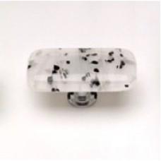 "Cirrus Black & White 2"" Glass Cabinet Knob (LK-502) by Sietto"