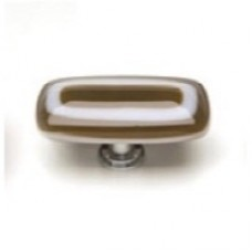 """Luster Woodland Brown 2"""" Glass Cabinet Knob (LK-609) by Sietto"""