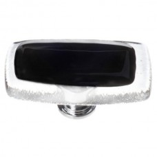 "Reflective Black 2"" Long Glass Cabinet Knob (LK-700) by Sietto"