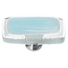 "Reflective Light Aqua 2"" Long Glass Cabinet Knob (LK-702) by Sietto"