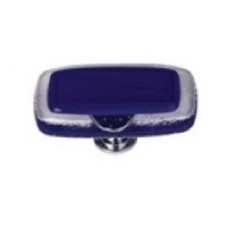 "Reflective Deep Cobalt Blue 2"" Glass Cabinet Knob (LK-707) by Sietto"