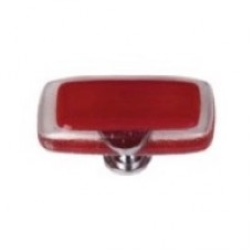 """Reflective Red 2"""" Glass Cabinet Knob (LK-719) by Sietto"""
