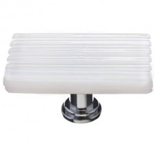 "Texture White 2"" Long Glass Cabinet Knob (LK-800) by Sietto"