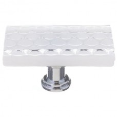 "Texture White 2"" Long Glass Cabinet Knob (LK-900) by Sietto"