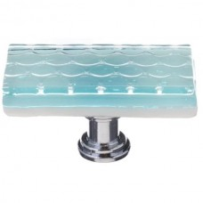 "Texture Light Aqua 2"" Long Glass Cabinet Knob (LK-901) by Sietto"