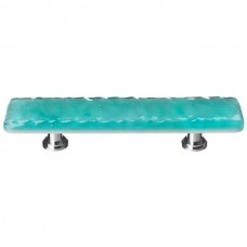 "Glacier Aqua 3"" cc Glass Drawer Pull (P-207) by Sietto"