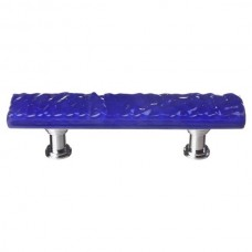 """Glacier Deep Cobalt Blue 3"""" CTC Glass Drawer Pull (P-221) by Sietto"""