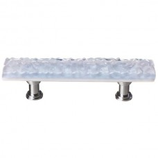 "Glacier Soft Blue 3"" cc Glass Drawer Pull (P-224) by Sietto"