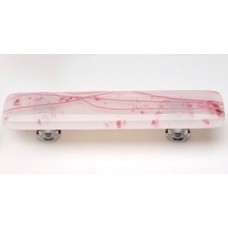 "Cirrus Cranberry 3"" CTC Glass Drawer Pull (P-501) by Sietto"