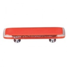 """Reflective Orange 3"""" CTC Glass Drawer Pull (P-722) by Sietto"""