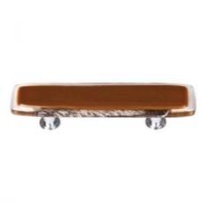 """Reflective Umber Brown 3"""" CTC Glass Drawer Pull (P-723) by Sietto"""