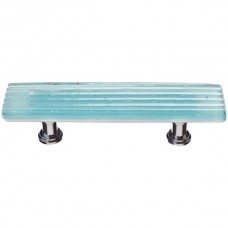 "Texture Light Aqua 3"" cc Glass Drawer Pull (P-801) by Sietto"