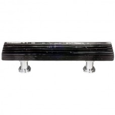 "Texture Black 3"" cc Glass Drawer Pull (P-802) by Sietto"