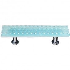 "Texture Light Aqua 3"" cc Glass Drawer Pull (P-901) by Sietto"