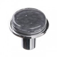 "Geometric Slate Grey 1.125"" Round Glass Cabinet Knob (R-1301) by Sietto"