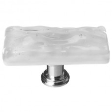 "Glacier Blue Grey 2"" Skinny Long Glass Cabinet Knob (SLK-204) by Sietto"