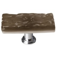 "Glacier Oregon Grey 2"" Skinny Long Glass Cabinet Knob (SLK-205) by Sietto"