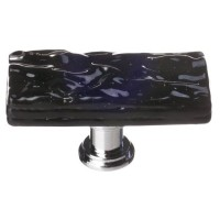 "Glacier Black 2"" Skinny Long Glass Cabinet Knob (SLK-213) by Sietto"