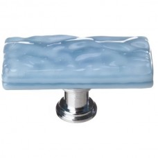 "Glacier Powder Blue 2"" Skinny Long Glass Cabinet Knob (SLK-215) by Sietto"