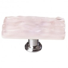 "Glacier Rose 2"" Skinny Long Glass Cabinet Knob (SLK-228) by Sietto"
