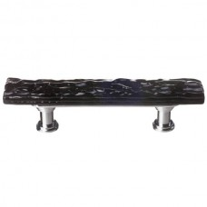 "Glacier Black 3"" cc Skinny Glass Drawer Pull (SP-213) by Sietto"