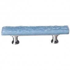 "Glacier Powder Blue 3"" cc Skinny Glass Drawer Pull (SP-215) by Sietto"