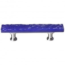 "Glacier Deep Cobalt Blue 3"" cc Skinny Glass Drawer Pull (SP-221) by Sietto"